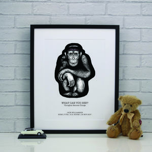 Personalised Chimp Champ Chimp Print