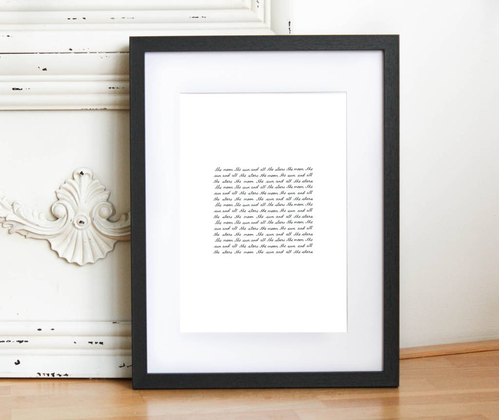 The Moon The Sun And All The Stars Print