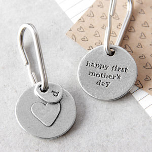 'Happy First Mother's Day' Keyring