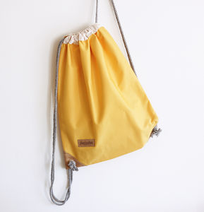 Summer Yellow Drawstring Bag