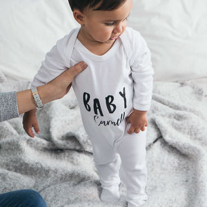Baby Name Personalised Baby Grow - clothing