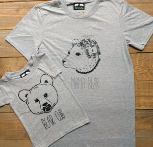 Mama Bear And Bear Cub T Shirt Set