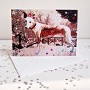 Whippet Dog With Stars Birthday Card