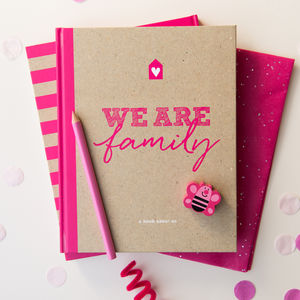 Family Scrapbook And Memory Book In Hot Pink - photo albums