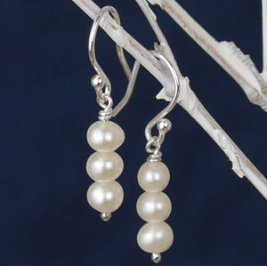 Handmade White Pearl Drop Earrings