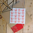 Eight Pack Handmade 'Flakes' Christmas Card