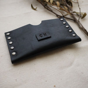 Personalised Leather Card Holder - summer sale