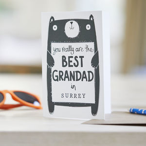 Best Grandad Father's Day Card - personalised cards
