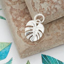 Palm Leaf Solid Silver Charm