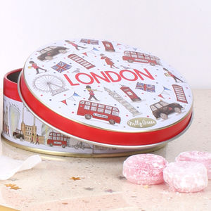 London Icons Tin Of Travel Sweets - new in food & drink