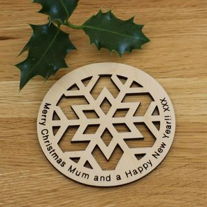 Christmas Coasters Can Be Personalised