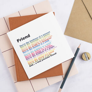 Friend Rainbow Poem Card