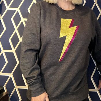 Dark Grey Lightning Bolt Sweatshirt