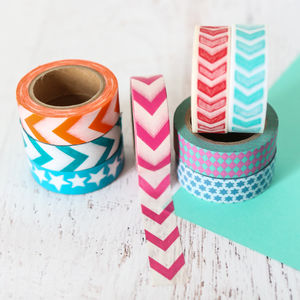 Geometric Patterned Washi Tape - diy stationery