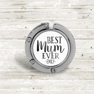 Personalised 'Best Mum Ever' Table Bag Hanger - bag charms