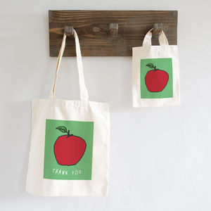 Personalised Apple Bag - gifts for teachers
