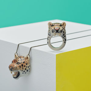Roaring Leopard Ring - jewellery