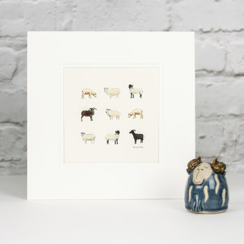 Rare Breed Sheep Hand Finished Art Print