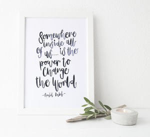 Brush Lettered Print Roald Dahl Quote - motivational gifts