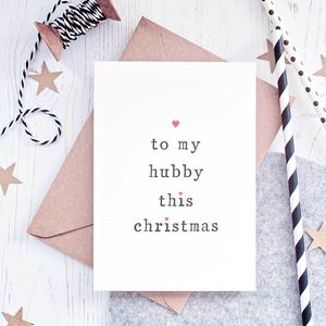 'To My Hubby Or Wifey' Christmas Card - cards & wrap