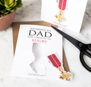 Personalised Funny Father's Card