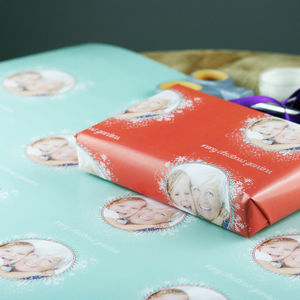 Personalised Christmas Photo Gift Wrap - wrapping