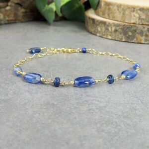 Sapphire And Kyanite Bracelet