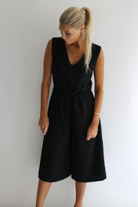 Black All In One Jumpsuit - women's fashion