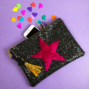 Glitter Star Clutch Bag - women's accessories