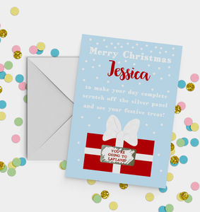 Personalised Scratch Off Surprise Christmas Card A5 - cards