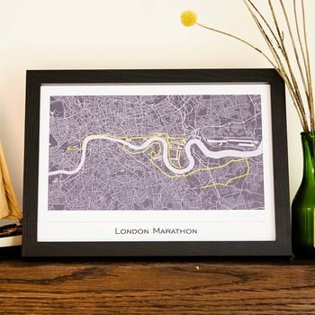 Any Marathon Or Virtual Running Event Map Route Print