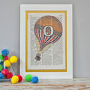 Personalised Balloon Letter Print Mounted