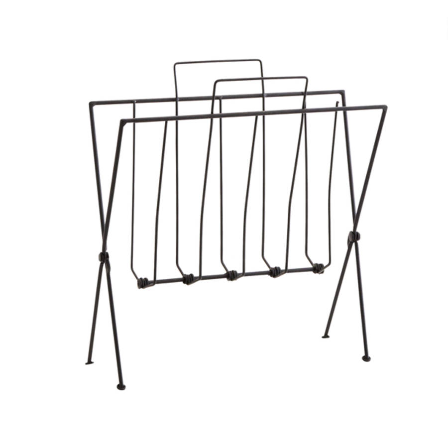 antique copper or black wire magazine rack by posh totty designs ...
