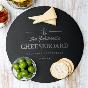 Personalised Family Slate Cheese Serving Board - kitchen