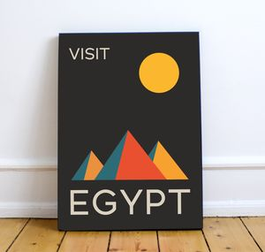 'Visit Egypt' Vintage Inspired Travel Art Print