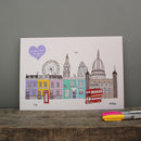London Buildings Personalised Wedding Print