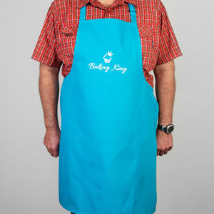 Baking King Hand Printed Apron For Children And Adults