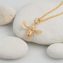 Yellow Gold Bee Necklace by Lily Charmed