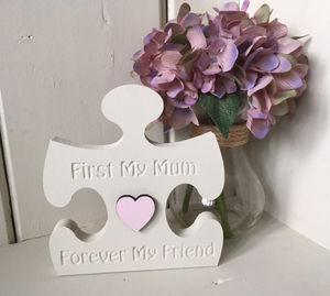 Jigsaw Wooden Etched First Mum Forever Friend