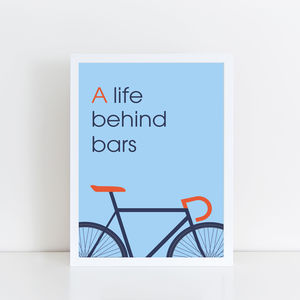 A Life Behind Bars Bicycle Print - new in prints & art