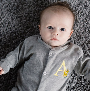 Alphabet Personalised Babygrow - gifts for babies