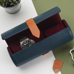 Luxury Personalised Leather Watch Roll - 50th birthday gifts