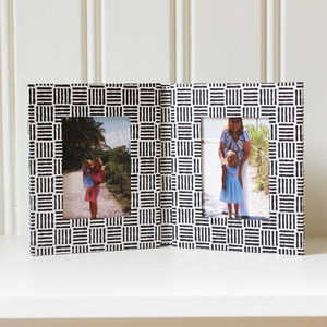 Double Folding Black And White Frame - home accessories