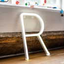 White Neon Letter Light