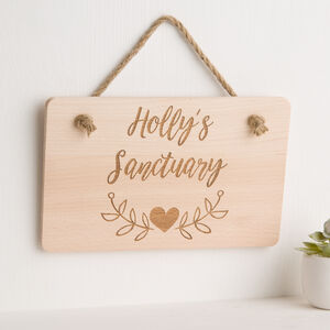 Create Your Own Personalised Engraved Wooden Plaque