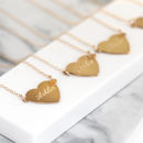 Personalised Gold Heart And Initial Necklace