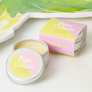 Pina Colada Flavoured Lip Balm - stocking fillers