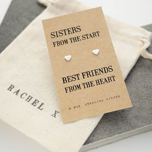 Sister Gift Silver Earrings - gifts for her
