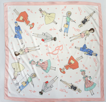 Barbie Girl Inspired Silk Scarf