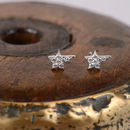 Sterling Silver Pavé Star Earrings